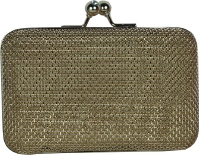 Shoebox Women Party Gold  Clutch