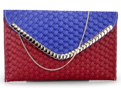 Bags Craze Women Festive, Wedding, Casual Red, Blue  Clutch
