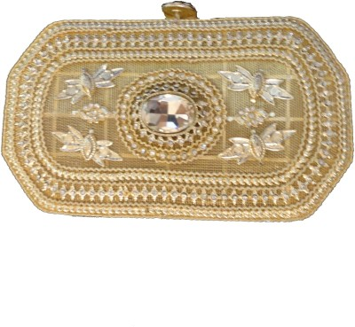 Kmu Traders Wedding, Party, Festive Gold  Clutch