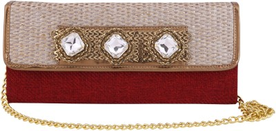 Vdesi Ethnic Women Festive, Formal, Party, Wedding Maroon, Gold  Clutch