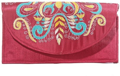 Slice Of Bengal Casual Maroon  Clutch