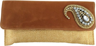 Anmita Wedding, Party, Festive Gold, Brown  Clutch