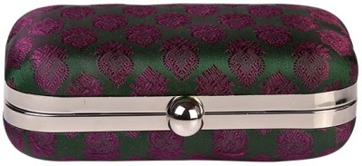 I Village Wedding, Casual, Party, Formal, Festive Green, Purple  Clutch