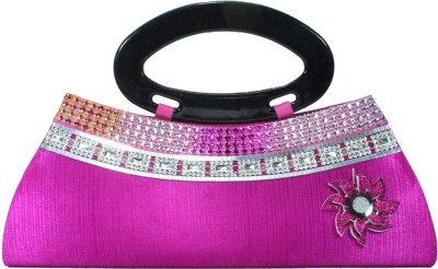 Vendee Fashion Festive Pink, Silver  Clutch