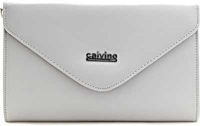 Calvino Women Casual, Party White  Clutch