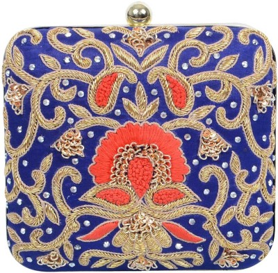 Uptown Laila Women Party Blue  Clutch