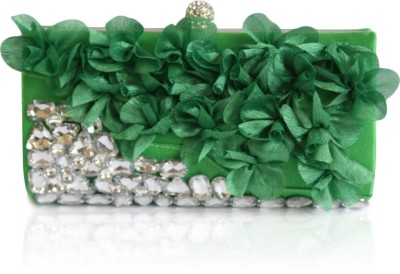 Inspired Living Women Party Green  Clutch