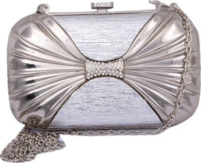 Alishaan Wedding, Party, Festive, Casual Silver  Clutch