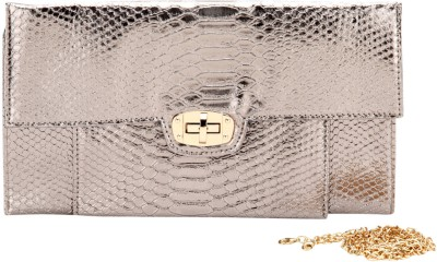 Elespry Women Party Silver  Clutch