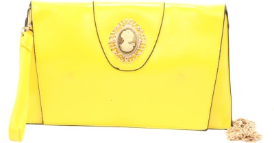 Luxury Living Casual, Party, Festive Yellow  Clutch