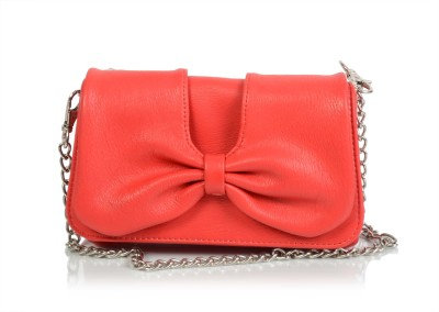 Butterflies Women Casual, Party Red  Clutch