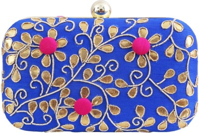 Glitters Party, Casual Pink, Blue  Clutch