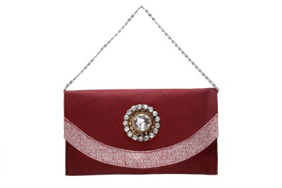 Tripssy Women Casual, Party Maroon  Clutch