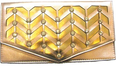 Divine Collection Women, Girls Casual Gold  Clutch