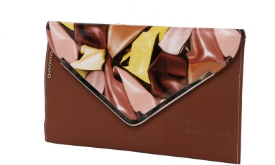 NAAZ BAGS COLLECTION Brown  Clutch