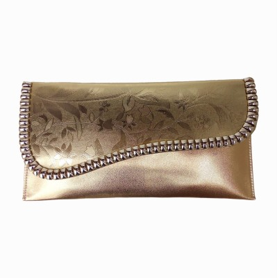 PRG Elegance Casual Gold  Clutch