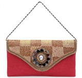 Ashyam Women Party Red  Clutch