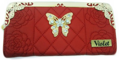 VIOLET Party Red  Clutch
