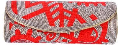 Aartisto Party Red, Silver  Clutch