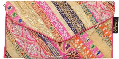 Shilpkart Women Party Pink  Clutch