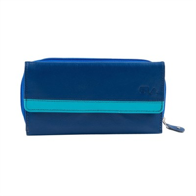 Goodwill Leather Art Casual, Festive, Formal, Party, Wedding Blue  Clutch