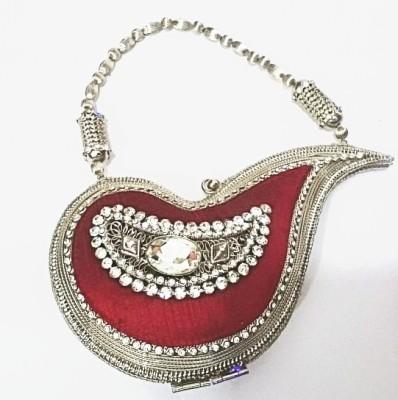 Shree Kala Fashions Red  Clutch