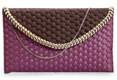 Bags Craze Women Festive, Wedding, Casual Purple, Brown  Clutch