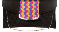 Pentafive Women Festive, Wedding, Party Black  Clutch