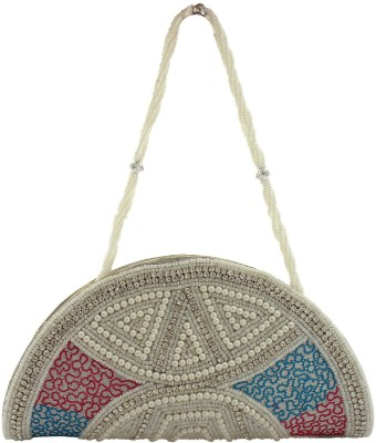Youth Mantra Women Party Pink, Blue, White  Clutch