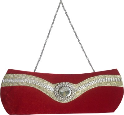 X-WELL Wedding, Party, Festive Red  Clutch