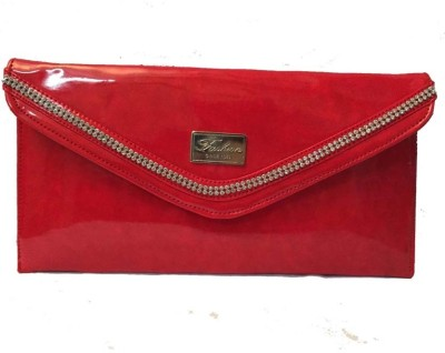 Balaji Creations Women Party Red  Clutch