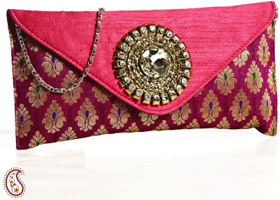 Aapno Rajasthan Party Pink  Clutch
