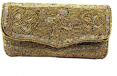 Anshul Fashion Wedding, Casual Gold  Clutch