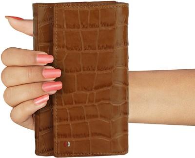 OOlalaShop Premium Leather Brown  Clutch