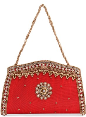 Ashyam Party Red  Clutch