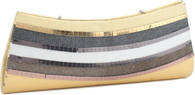 Swiss Design Women Grey, Gold  Clutch