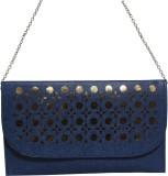 Veins Women Casual Blue  Clutch