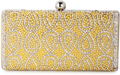 Colors Inc. Women Party Yellow  Clutch