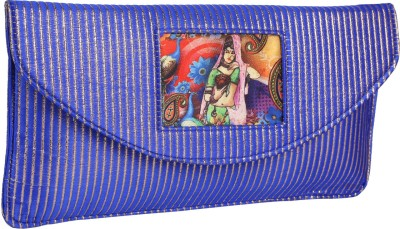 Vdesi Women Casual, Festive, Party, Wedding Blue  Clutch