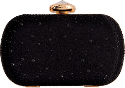 Glitter Accessories Wedding, Party Black  Clutch