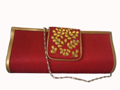 Srmgifts Casual, Wedding, Party Red  Clutch