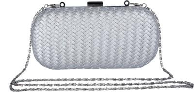 Daks Women Casual Silver  Clutch