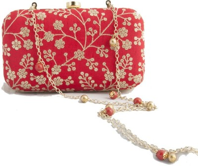 The Creative Hub Women Party Red  Clutch