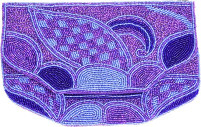 Himalaya Handicraft Party Purple  Clutch