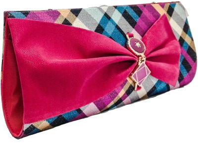 Walletmania Women, Girls Party, Festive, Wedding Pink, Multicolor  Clutch
