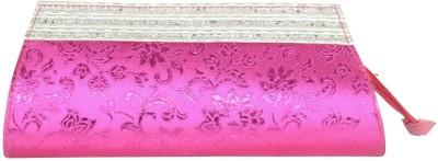Prajo Casual Pink  Clutch