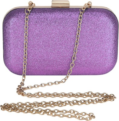 Bling It On Women, Girls Party, Casual, Festive, Wedding Purple  Clutch