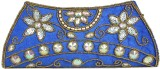 Maayas Women Party Blue  Clutch