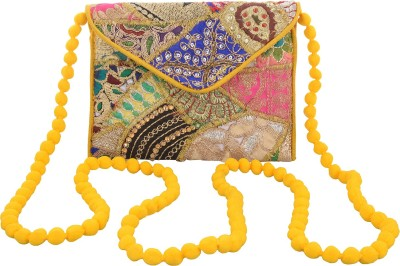 Arisha kreation Co Casual Yellow  Clutch