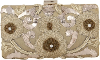 Arti J. Girls, Women Wedding, Festive, Party Gold  Clutch